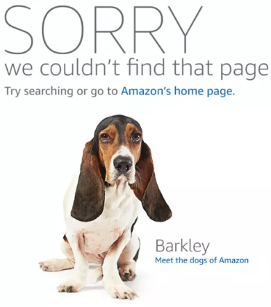 amazon error dog