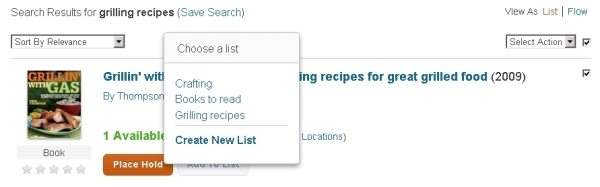 created lists